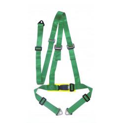 """3 bodové bezpečnostné pásy 2"""" (50mm), zelené"""