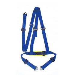 """3 bodové bezpečnostní pásy 2 """"(50mm), modré"""