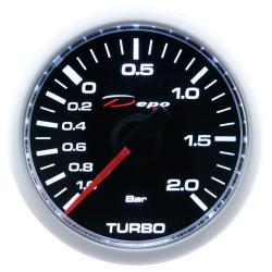 Budík DEPO racing Tlak turba elektrický - Night glow série 2BAR