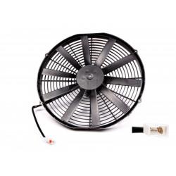 Univerzální elektrický ventilátor SPAL 385mm - tlačný, 12V