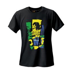 Tričko OMP Ayrton Senna edition černé