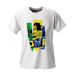 Tričko OMP Ayrton Senna edition bílé