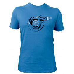 Tričko RACES Turbo azurové