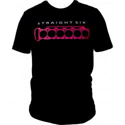 Tričko RACES straight six černé