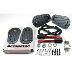 Aerodynamické úchyty kapoty Aerocatch, uzamykatelné, carbon look