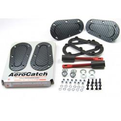 Aerodynamické úchyty kapoty Aerocatch, carbon look