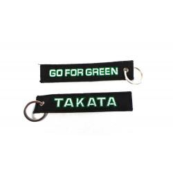 Klíčenka Takata go for green černá