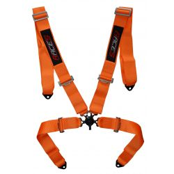 """4 bodové bezpečnostní pásy RACES 3 """"(76mm), oranžové"""