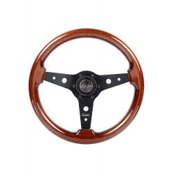 Sportovní volant Luisi Montreal, 340mm, mahagon, bez odsazení