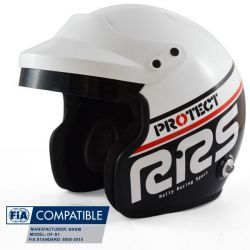 Přilba RRS Protect JET s FIA 8859-2015, Hans, černá