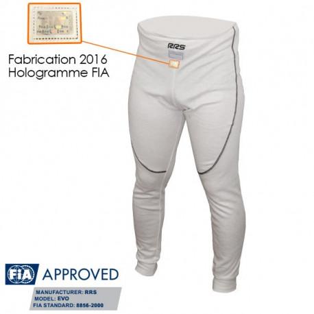 Spodní prádlo RRS spodky s FIA homologací, bílé 100% NOMEX | race-shop.cz