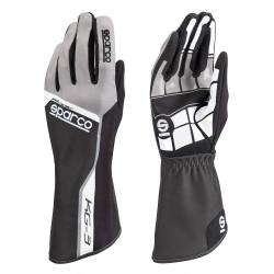 Rukavice Sparco Track KG-3 (vnitřní šití) černo/ šedá
