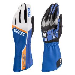 Rukavice Sparco Track KG-3 (vnitřní šití) modro/ bílá
