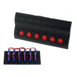 Vodotěsný panel se 6 vypínači (IP68)