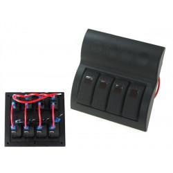 Vodotěsný panel se 4 vypínači Carling Rocker (IP68)