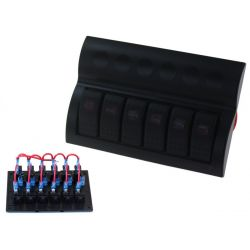 Vodotěsný panel se 6 vypínači Carling Rocker (IP68)