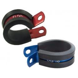 Hliníková objímka pro uchycení hadic nebo kabelů, různé průměry