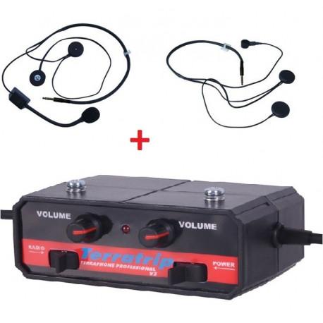 Sada centrály interkomu Terratrip Professional + 2x headset