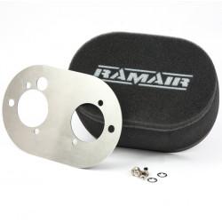Dvojitý sportovní pěnový filtr Ramair na karburátory Weber DCOE 45/48 a Dellorto DHLA 45/48