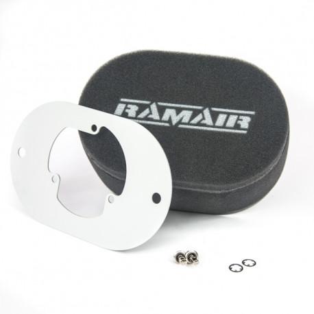 Filtry pro karburátory Dvojitý sportovní pěnový filtr Ramair na karburátory Pierburg 2E2/2E3/2E-E | race-shop.cz