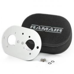 Dvojitý sportovní pěnový filtr Ramair na karburátory Weber 40 IDF