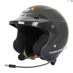 Přilba Turn One Jet_RS s FIA  8859-2015, Hans, černá s interkomem