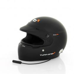 Přilba Turn One Full-RS s FIA 8859-2015, Hans, černá s interkomem