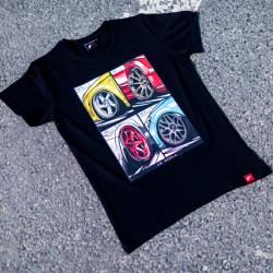 Tričko JR-Wheels MIX černé