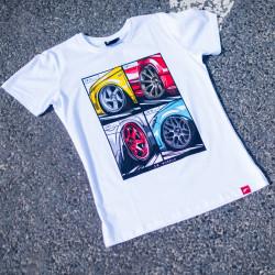 Tričko JR-Wheels MIX bílé