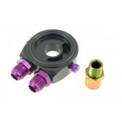 Adaptér pod olejový filtr vstup / výstup AN8 black