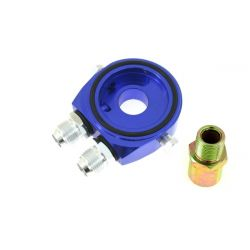 Adaptér pod olejový filtr vstup / výstup AN10 blue