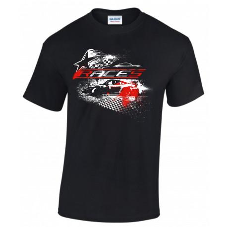 Trička Tričko RACES Star černé | race-shop.cz