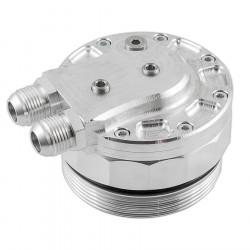 Uzávěr olejového filtru pro BMW M52 / M54 pro připojení snímačů a chladiče