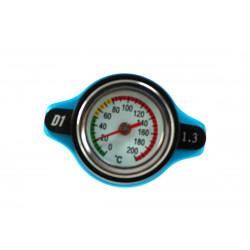 Vysokotlaká zátka chladiče D1spec 1,3BAR 15mm s teploměrem