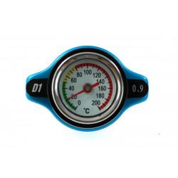 Vysokotlaká zátka chladiče D1spec 0,9BAR 15mm s teploměrem