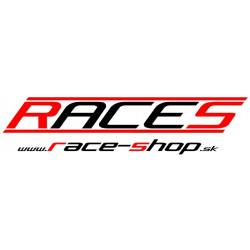 Nálepka RACES www.race-shop.sk 11 x 47 cm - červeno / černá