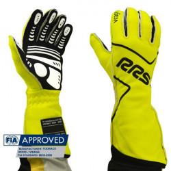 Rukavice RRS Virage s FIA homologací (vnější šitíí) žluté