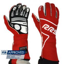 Rukavice RRS Virage s FIA homologací (vnější šitíí) červené