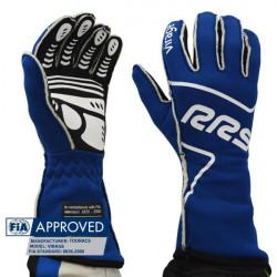 Rukavice RRS Virage s FIA homologací (vnější šitíí) modré