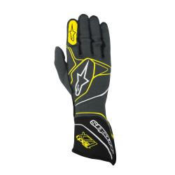 Rukavice Alpinestars Tech 1ZX s FIA homologací (vnější šití) žlutá