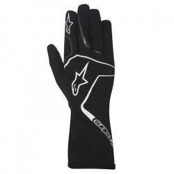 Rukavice Alpinestars Tech 1 K RACE bez FIA homologace - černo / bílé