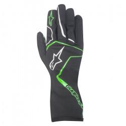 Rukavice Alpinestars Tech 1 K RACE bez FIA homologace - černo / zelené