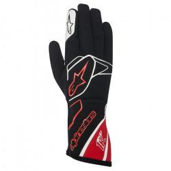 Rukavice Alpinestars Tech 1 K bez FIA homologace - černo-bílo-červené