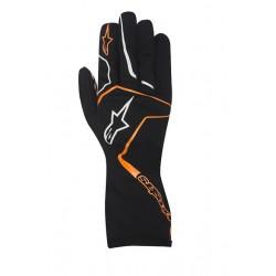 Rukavice Alpinestars Tech 1 K RACE bez FIA homologace - černo / oranžové