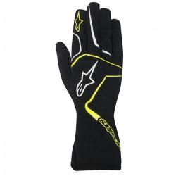 Rukavice Alpinestars Tech 1 K RACE bez FIA homologace - dětské - černo / žluté