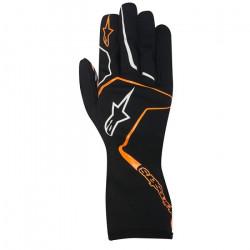 Rukavice Alpinestars Tech 1 K RACE bez FIA homologace - dětské - černo / oranžové