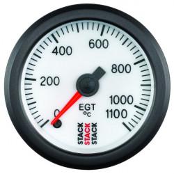 Budík STACK teplota výfukových plynů 0-1100°C (mechanický)
