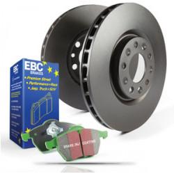 Přední sada EBC PD01KF288 - Brzdové kotúče Premium OE + brzdové dosky Greenstuff