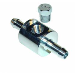 Adaptér SYTEC k montáži manometru nebo snímače tlaku paliva 8,12, 17, 25mm průměr-8mm