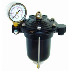 Regulátor tlaku paliva KING pro karburátory s filtrem a budíkem
